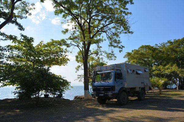 Stellplatz am Lago Izabal