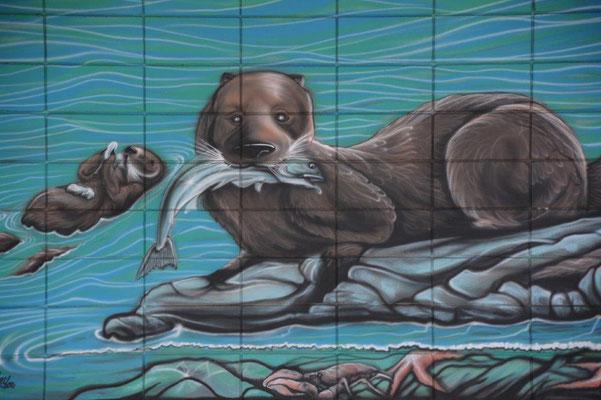 Wandmalerei in Campbell River