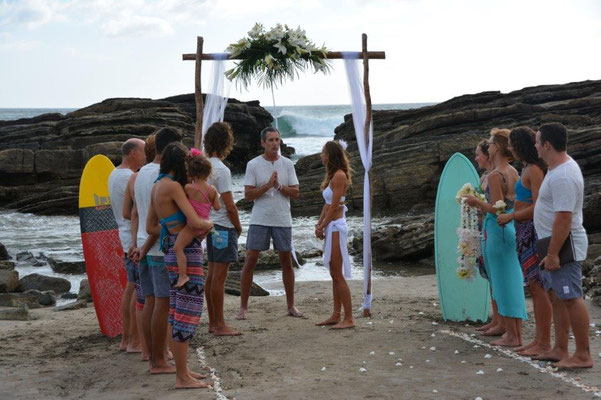 Surfer wedding