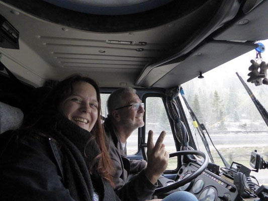 Katja auf großer Fahrt