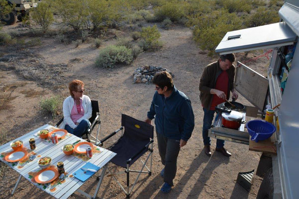 Campground in Tucson with Moni & Gerhard