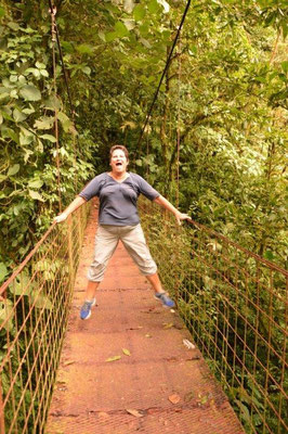 Karin practises high jump