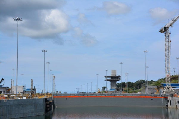 Die Erweiterungsarbeiten am Kanal
