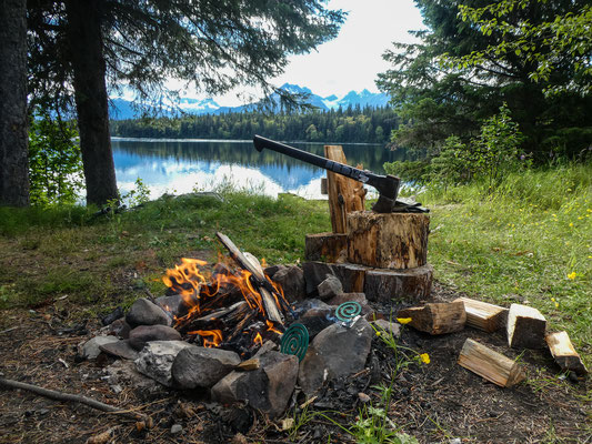 Beautiful campsites along the Cassiar Highway