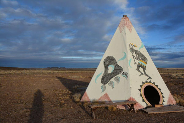 Campground beim Petrified Forest