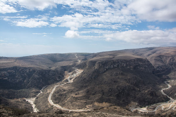 Landschaft bis kurz vor der Grenze nach Jemen