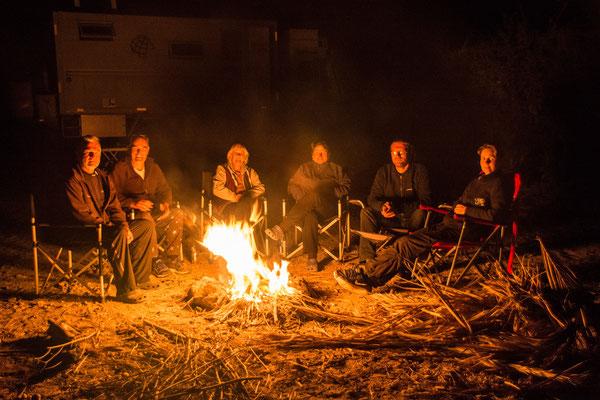 Schöne Stunden am Lagerfeuer