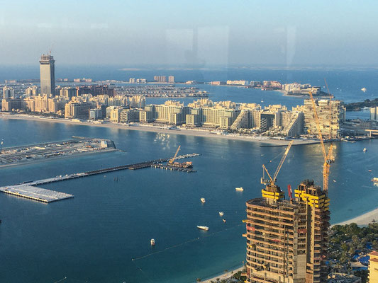 Dubai Palm 1, Blick vom Marriot Hotel