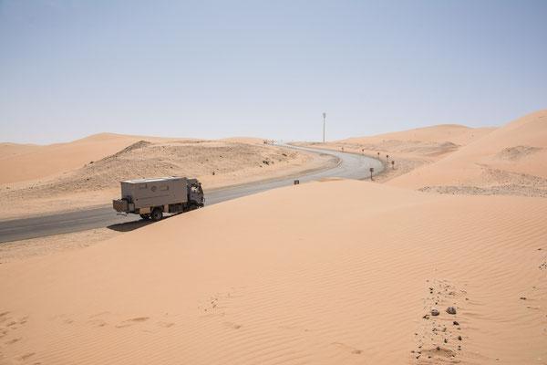 Auf dem Weg zur Moreb Düne