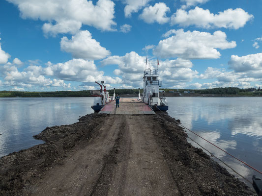 Two ferry crossings on Dempster Highway
