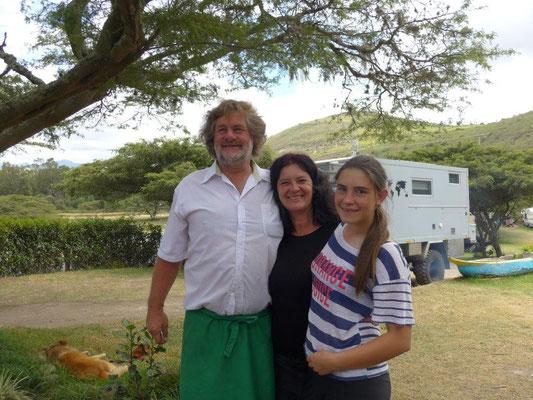 Unsere super netten Gastgeber Hans, Patricia & Tochter Jördes