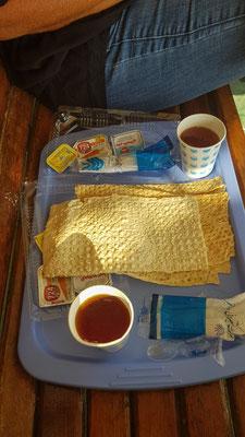 Reichhaltiges Frühstück....