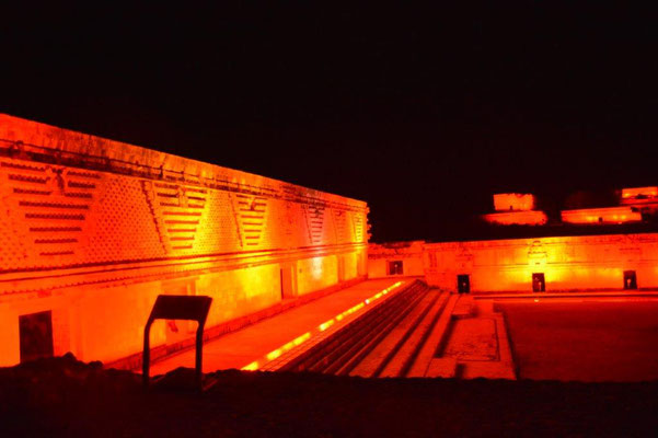 Light & Sound Show in Uxmal