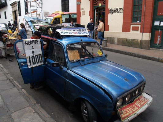Mobiler Verkaufsstand in Bogota