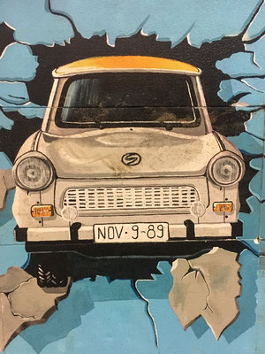 A trabant on the way to freedom in 1989