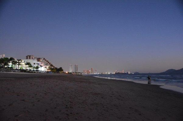 Strand bei Vollmond