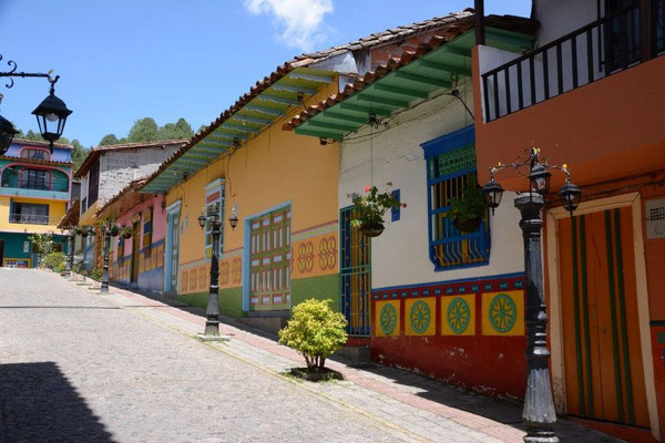 Colorful houses in Guatape