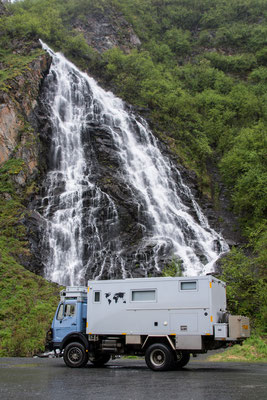 auf dem Weg von und nach Valdez