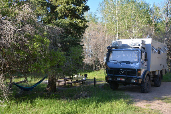 Campground im National Forest Manti-La-Sal