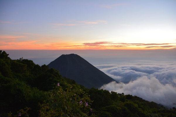 Toller Sonnenuntergang am Cerro Verde
