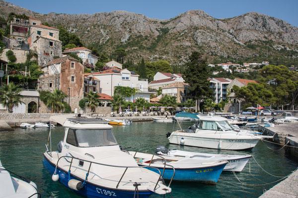Von hier geht es mit dem Wassertaxi nach Dubrovnik