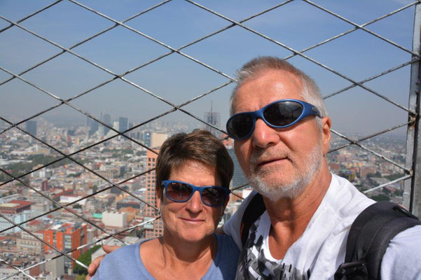 Sightseeing Tour in Mexiko-City - Selfie vom Latino Americana Tower