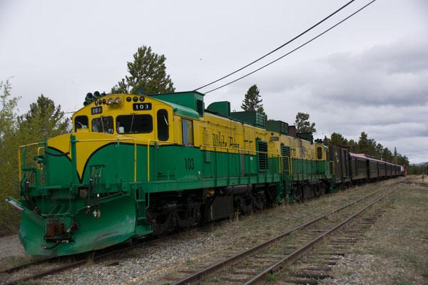 Carcross, historische Eisenbahn