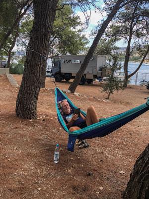 Unser Campingplatz in Trogir