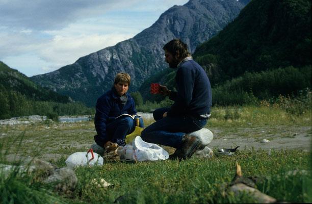 Auf dem Weg nach Skagway 1986, etwas weniger Komfort