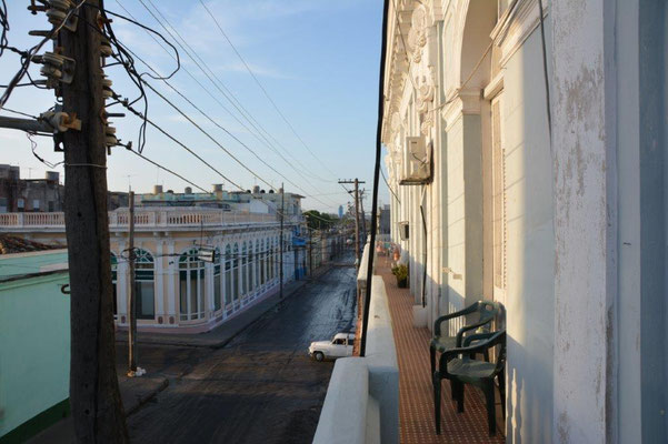 Cienfuegos - the balcony from our bed & breakfast