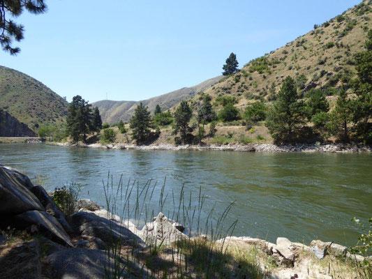 Unser Badeplatz am Payette River bei Boise