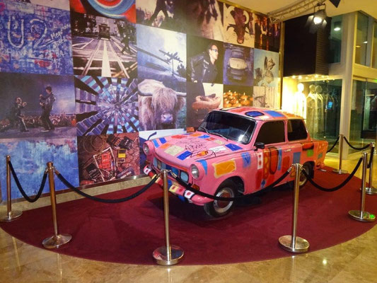 "Old German ""Trabi"" in the Hard Rock Cafe in Panama City"