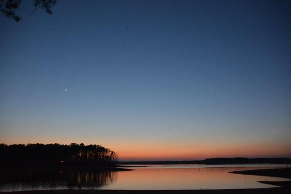 Sonnenuntergang in einem State Park unterwegs