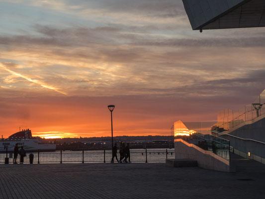 Sonnenuntergang in Liverpool