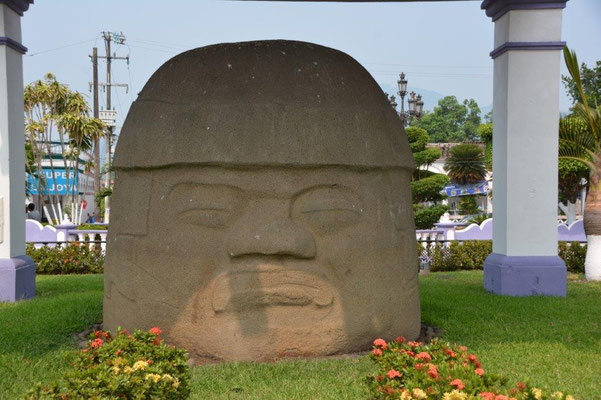 Olmeken head in Santiago Tuxtla