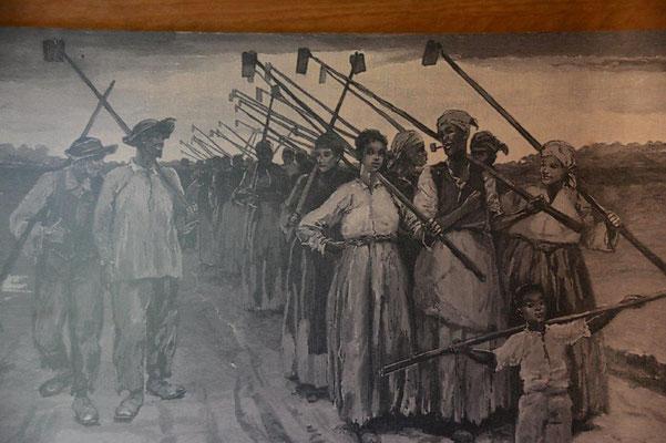 Oak Alley Plantage - Bild der Sklaven