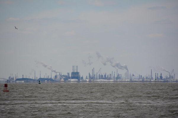 But also much oil refineries