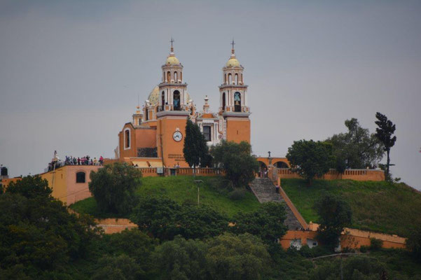 The church on top of the pyramide