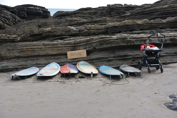 So sieht der Parkplatz bei einer Surfer Hochzeit aus