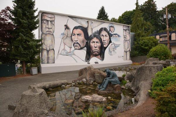 Wandmalerien in Chemainos