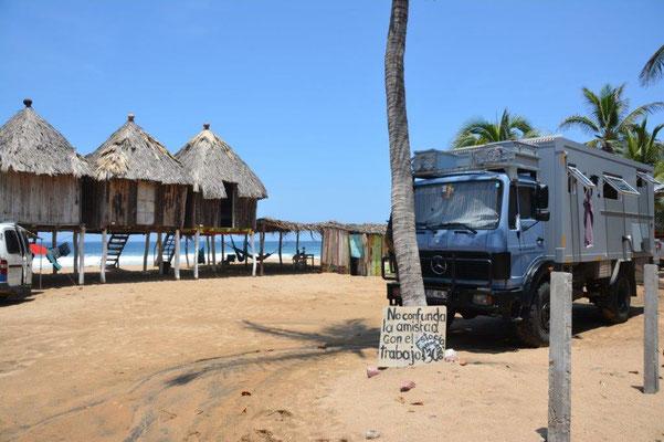 Unser Stellplatz direkt am Strand