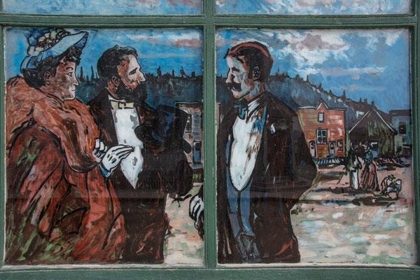 Wandmalerei in Dawson