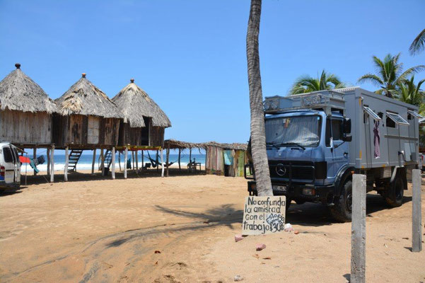 Parking direct on the beach