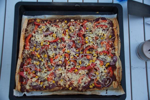Wüstentour - Erg Chebbi , leckere Pizza