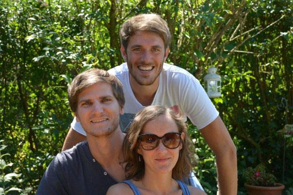 Michael & Eva mit Trauzeuge Tobias