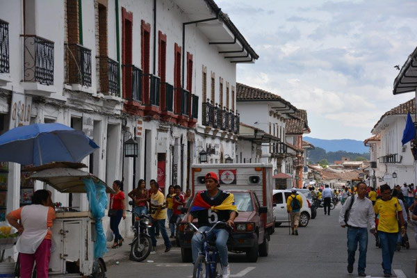 Popayan with the white colonial buildings