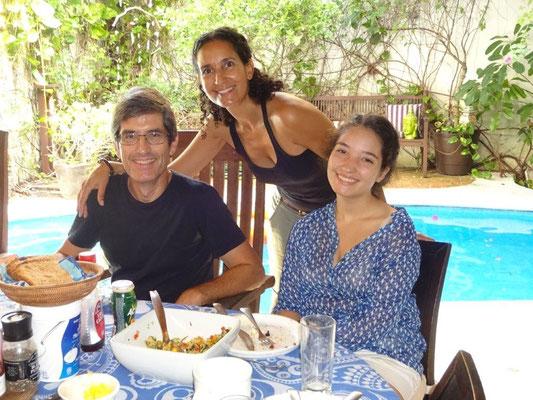 Frühstück bei Martin Costa und seiner Familie