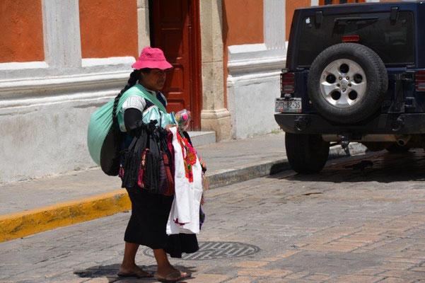 Straßenverkäuferin in Campeche