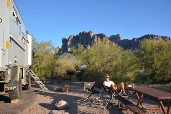 Lost Dutchman Campground east of Phoenix