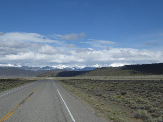 On the road to the Great Sand Dunes